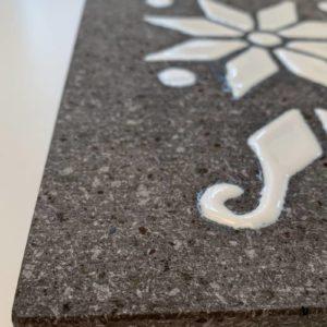 Plateau apéritif en pierre de lave