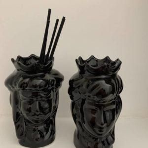 Têtes de maure siciliennes en céramique modele Normand - noir